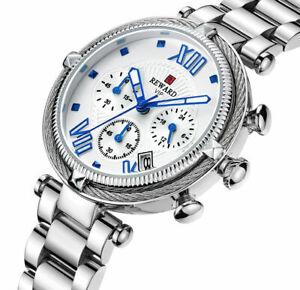 RW Damen Armband Uhr Chronograph Datumsanzeige Verschiedene Farben