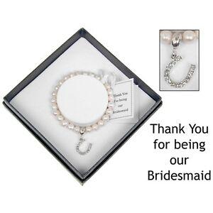 Fresh Water Pearl Silver Plated Bridesmaid Wedding Bracelet Equilibrium 7085