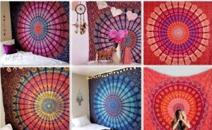 Indian-Tapestry-Wall-Hanging-Mandala-Hippie-Gypsy-Bedspread-Throw-Bohemian-Cover