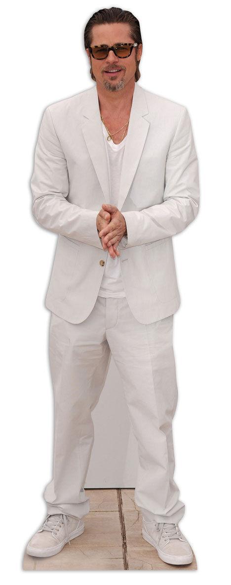 BRAD PITT LIFEGröße CARDBOARD CUTOUT STANDEE STANDUP Hollywood Star Suit Actor