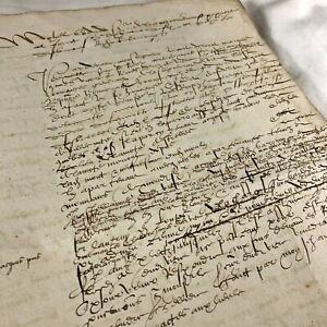 RARE-Authentic-Late-Medieval-Renaissance-Manuscript-Ca-1553-Latin-European