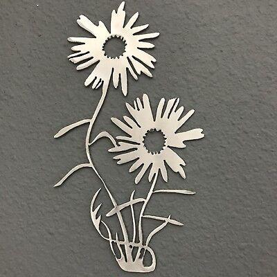 Flowers Metal Wall Art Decoration Skilwerx 9 x 5 Modern Floral 3