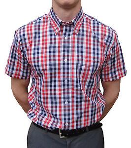 Warrior Button Down Shirt Camicia Ferdy Mod Skinhead Red White Blue