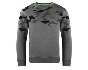 a2e3b45f2f05 Hugo Boss Junior s J25D00 A80 Crew Neck Boys Sweatshirt Dark Grey ...