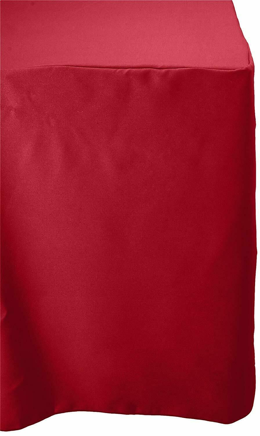 La lin dos ouvert Polyester Popeline Ajustée Nappe for Classroom tables-Rouge