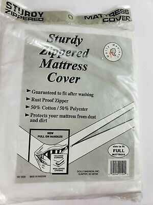 VTG Sealed Dolly Madison Zipped Mattress Cover For Queen Size Mattress NEW