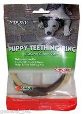 N-Bone Puppy Teething Ring Chicken Flavor Single 12 Count
