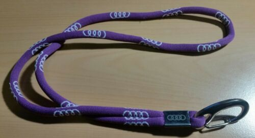 Audi Lanyard Key Chain Keyholder Logo purple Original 2015-46cm