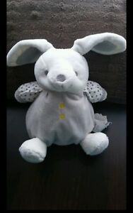 Doudou-Obaibi-Okaidi-Peluche-hochet-grelot-lapin-boule-etoile-gris-blanc-jaune