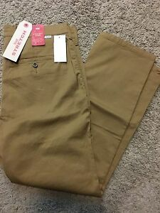 1fde86a5d37 NWT Levis Straight Leg Chino Pant WStretch Mens Flat Front Brown ...