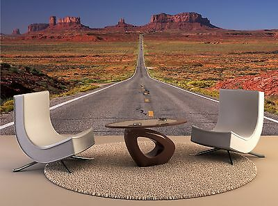 Road leading to Monument Valley 2 Giant Photo Wallpaper Wall Mural Background 3D