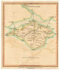 Antique Road Map-angleterre-isle Of Wight-cuivre Pli 1815-le Of Wight-kupferstich 1815 Fr-fr Afficher Le Titre D'origine