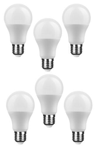 6er Pack NuLoXx LED Globe A60 10W//827 2700K 806lm warmweiß E27 270°