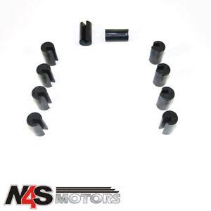 M8 X 4 12mm Blue Bonnet raisers//lifters//spacers Ajuste Universal Bulones Arandelas!