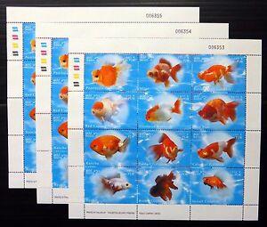 Laos-2002-Oro-Pesce-SHEETLET-di-12-U-M-Vedi-sotto-NB2040