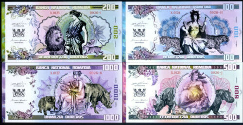 Animals SET Romedia 100;200;50;1000 Dureros Women Polymer 2019 500 issued