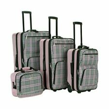 19-Inch//28-Inch Rockland Expandable Spinner 14 Tote Pink Giraffe