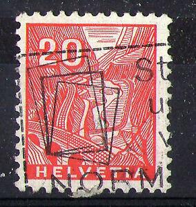 SWITZERLAND-1936-20c-ELECTRIC-TRAIN-COMMEMORATIVE-STAMP-VFU