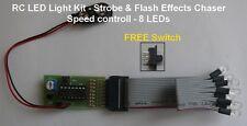 RC LED Light Kit - Strobe & Flash Effects Chaser - 8 Led's ( 4 Red & 4 White )