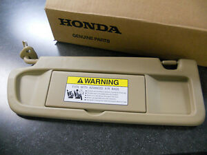 2006-2008 genuine honda civic driver side pearl ivory tan sun visor ... ae639c32403