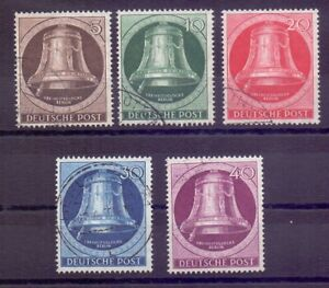 Berlin-1951-Glocke-Links-MiNr-75-79-rund-gestempelt-Michel-200-00-873