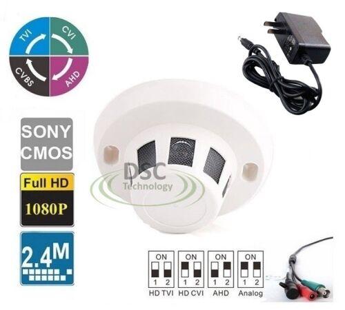 All-in-1 2.4MP HD 2.8mm Lens Smoke Detector Covert Hidden Camera w// Power