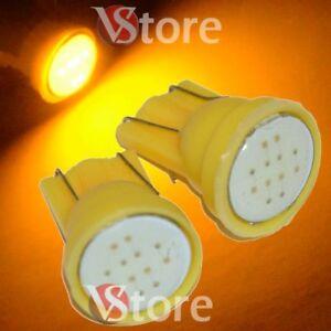 2-Lampade-Led-T10-COB-6-Chip-Luci-Giallo-Xenon-Posizione-Targa-Interni-Auto