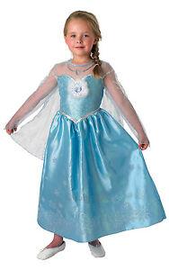 NEW-Disneys-Frozen-Princess-Elsa-Deluxe-Girls-Fancy-Dress-Costume