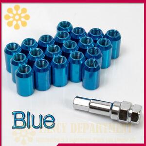 20x BLUE STEEL WHEEL TUNER NUTS M12x1.5 fit HONDA MAZDA TOYOTA MITSUBISHI FORD