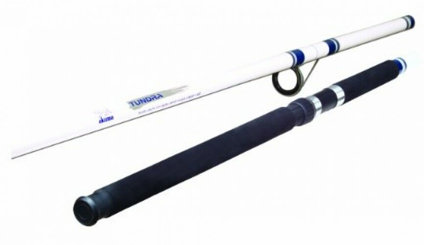 Spinning Rod 12 ft. White bluee TU-120 Pole Tundra Surf Glass Fiber Durable