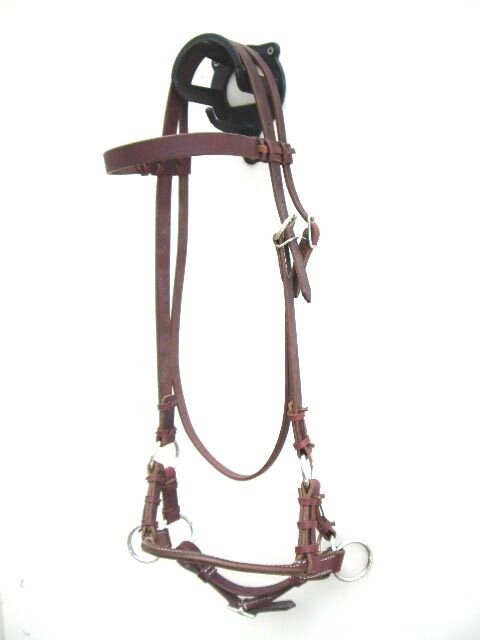 Side Pull mit Single Round Leather Noseband aus Latigo Gebisslose Zäumung