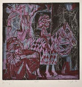 Timm Kregel - Umzug II - Farbholzschnitt - 1987 - 10/10