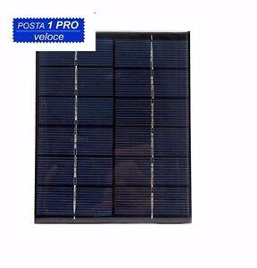 Caricamento Dellu0027immagine In Corso Mini Pannello Solare  Fotovoltaico 6V 2W 330mA Monocristallino