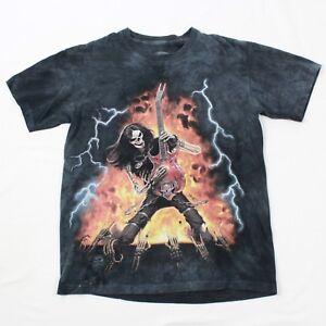 Skulbone-Distressed-One-Off-Men-039-s-shirt-Adult-Medium-Tie-Dye-Punk-Rocker-Biker