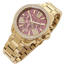 01a2f0b2f35a 100% New Michael Kors Wren Pave 41mm Chronograph Crystal Women s Watch  MK6290
