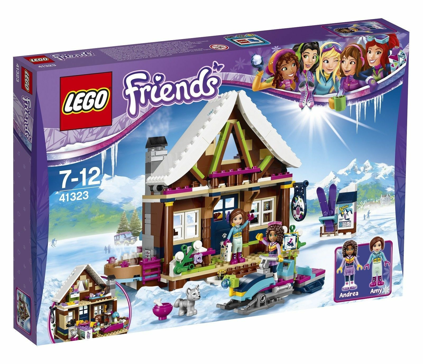 LEGO 41323 Friends Snow Resort Chalet - NEW IN BOX