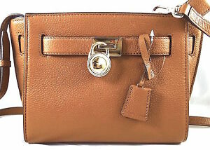7f126642ef73 Image is loading Michael-Kors-Hamilton-Traveler-Pebbled-Leather-Messenger- Crossbody-