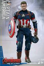 "Genuine Hot Toys MMS281 Avengers 12"" Captain America 1/6 Action Figure NIB USA"