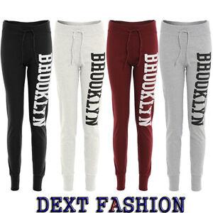 Mujer Brooklyn Pantalon De Chandal Gimnasio Pantalones Plus Tallas 8 22 Ebay