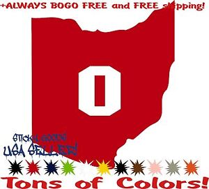 Ohio-State-Buckeyes-Red-Car-Truck-Vinyl-Decal-Sticker-Wolverines-Spartans-USA