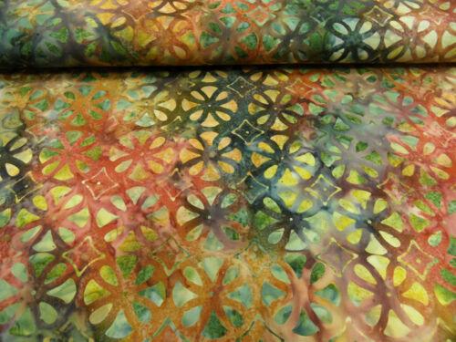 Patchworkstoffe Batik verschiedene Designs je 25 cm x 140 cm br 100/% BW