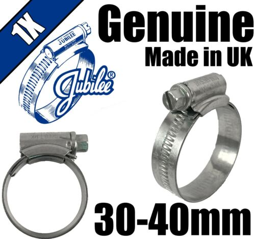 Genuine Original Jubilee Clips Steel Hose Pipe Clamps Worm Drive 30mm 40mm 1X