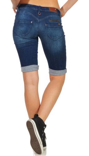 Freeman T Porter Belixa Super Stretch Denim findigo Damen Short XS-XL Neu 79,95