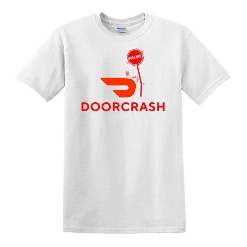 DOORDASH DOORCRASH PARODY PAUSE DELIVERY COURIER FUNNY HUMOROUS GAG T-SHIRT TEE