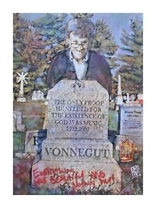 LIMITED-PRINT-Kurt-Vonnegut-Slaughterhouse-Five-Author-Wall-Art-Painting-12x16