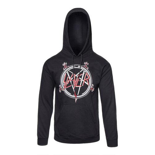 in rock da di ufficiale con Felpa band con metallo cappuccio Pullover Slayer Pentagram uomo w6zxUgq