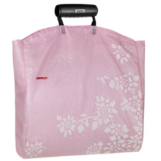 STELTON Shopper Tasche Einkaufstasche Einkaufsbeutel pink rosa Nylon 1600-12