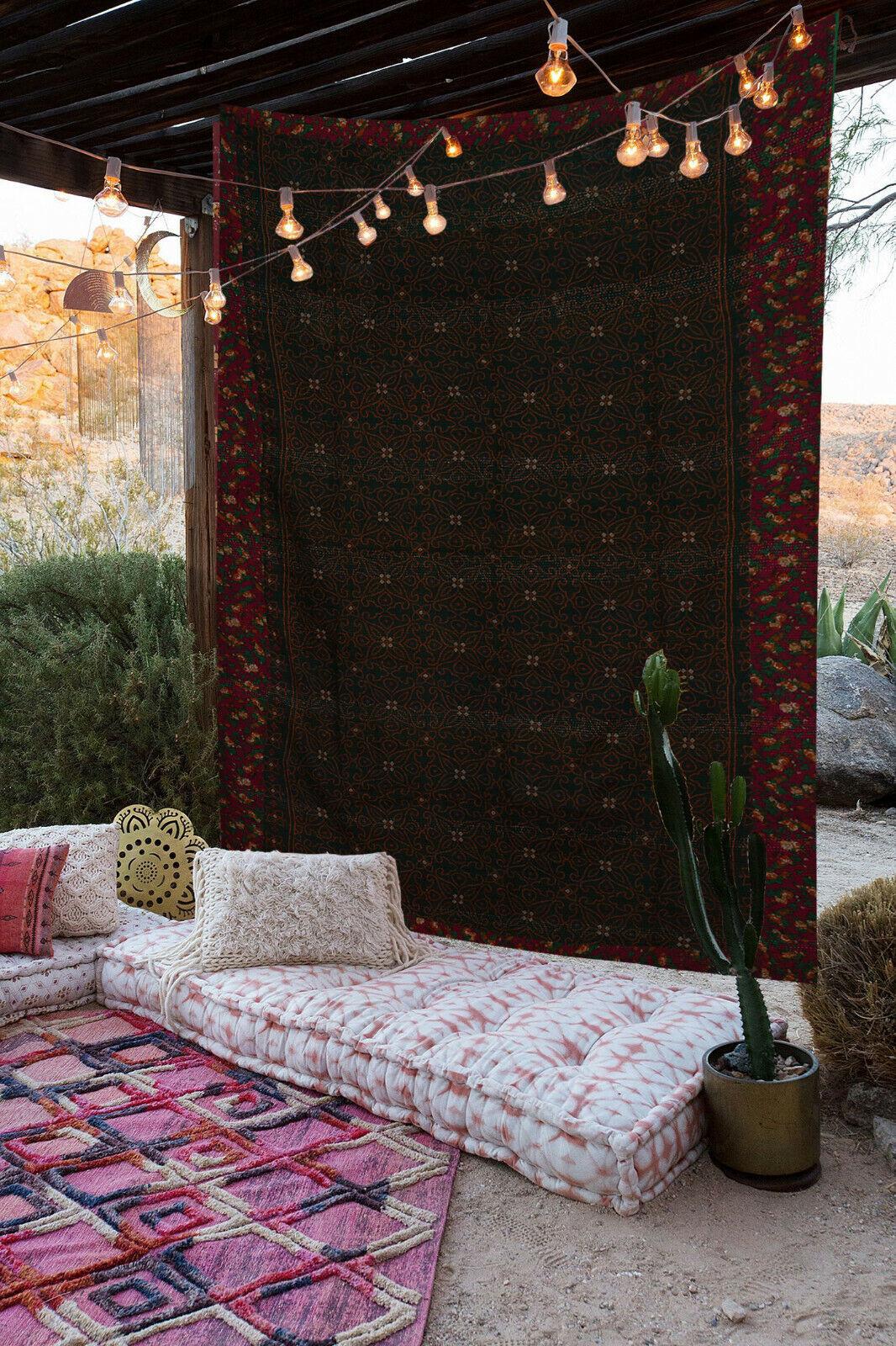Kantha Decke Indisch Vintage Wendbar Handmade Decke Zwilling Fein Arbeit Gudari
