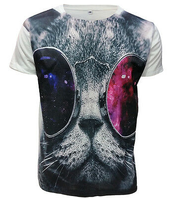 Trendy Sublimation Front Print T Shirts/Owl/Fox/Bear/Swag Dope/Rasta/Cat/Top
