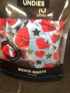 Yo Undies Boxer Briefs NEW NIP SMALL Hearts Stars YOSOX Valentine's Gift